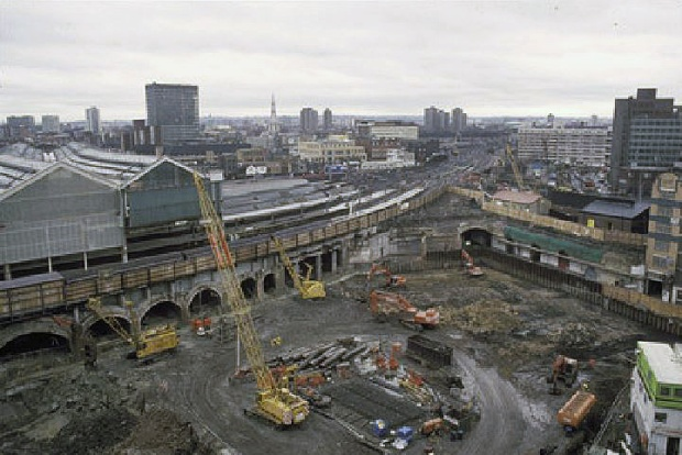 Waterloo International construction site, 1991 (image: Chris Hogg)