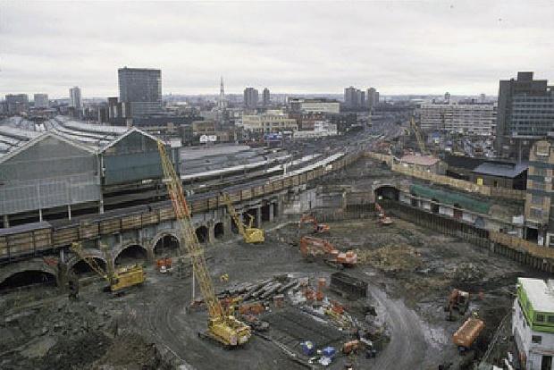 Waterloo International construction site, 1991 (image: Chris Hogg)