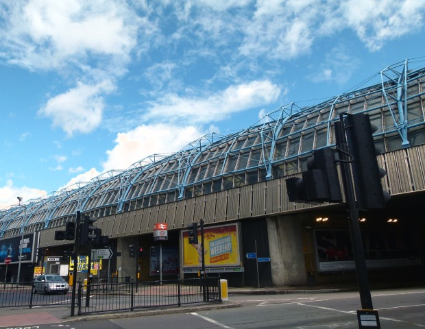 The former Waterloo International Eurostar terminal, as seen from the junction of Addington Street and Westminster Bridge Road