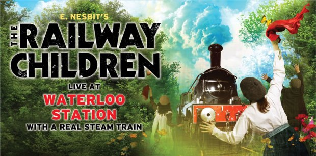 Poster for 'The Railway Children', a unique production staged on Waterloo International's former redundant platforms