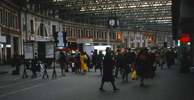 Waterloo station in 1979 (image: Age of Uncertainty website)