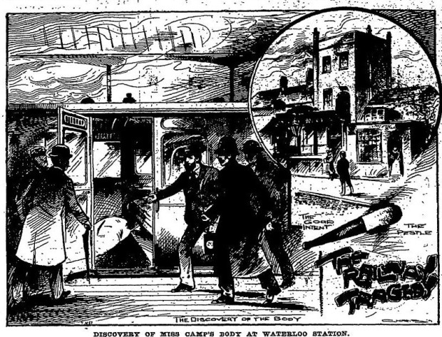 Images depicting Elizabeth's murder (from the Victorian 'Penny Illustrated' magazine)
