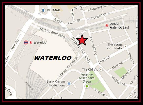 Map waterloo london Map of