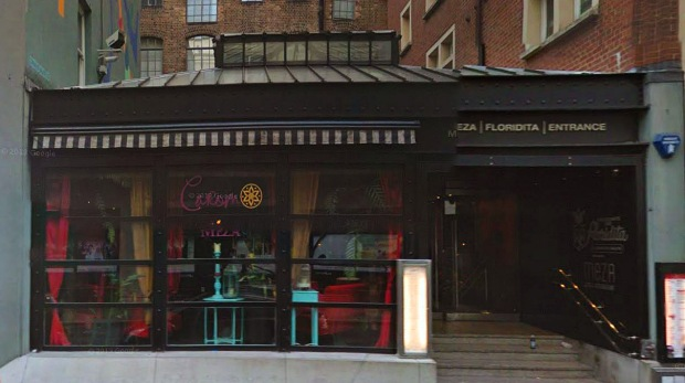 Site of the former Marquee club today- now occupied by 'Floridita' restaurant (image: Google)