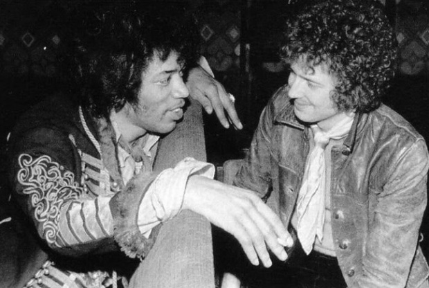 Jimi Hendrix and Eric Clapton, 1967