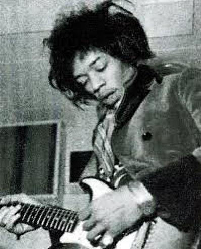 Jimi Hendrix at De Lane Lea studio