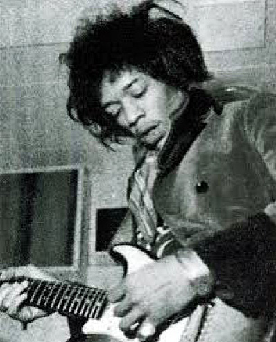 Jimi Hendrix at De Lane Lea studio
