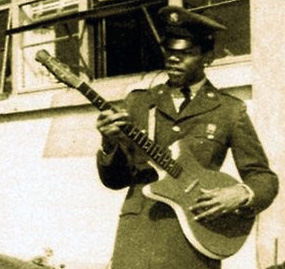 Jimi Hendrix during his army days