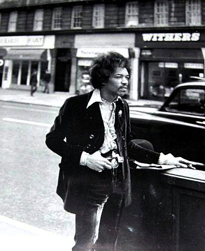 Jimi Hendrix, out and about in London, spring 1967