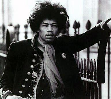 Jimi Hendrix at Montagu Square, c. 1967