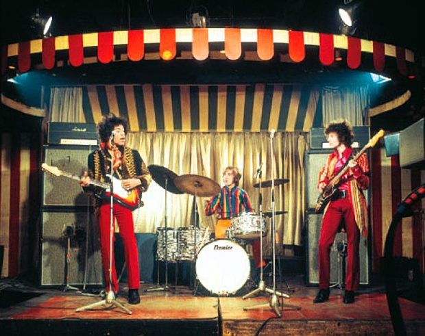 The Jimi Hendrix Experience conducting a sound check at the Marquee (image: Ray Stevenson)