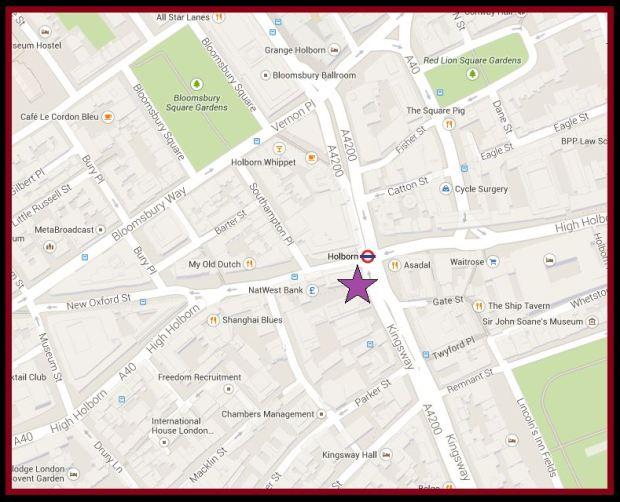 Kingsway map