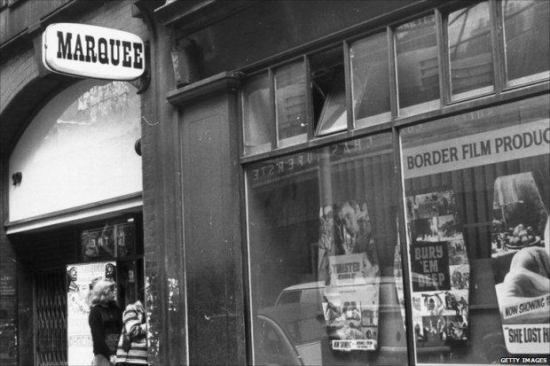 The Marquee Club, Wardour Street in the 1960s (image: BBC)