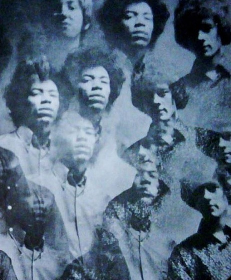 Image of the Jimi Hendrix Experience from a Saville Theatre programme