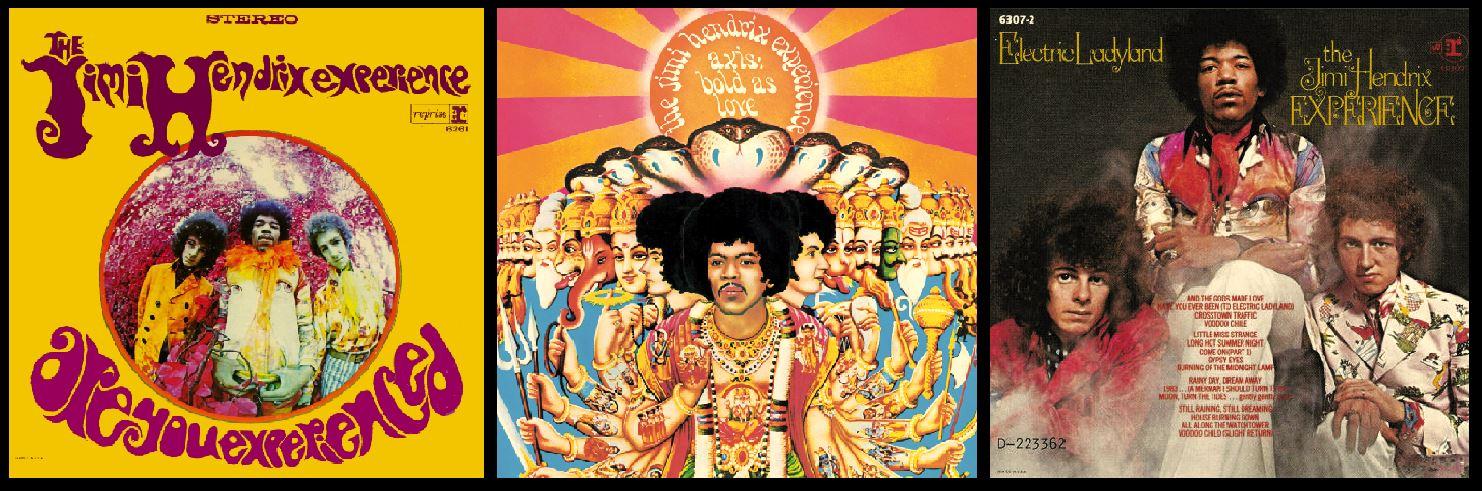 The Jimi Hendrix Experience's three celebrated studio albums