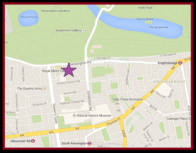 Albert Hall Map