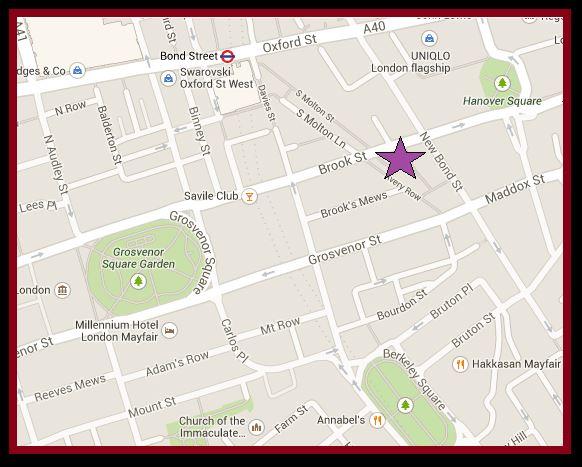 Brook Street Map