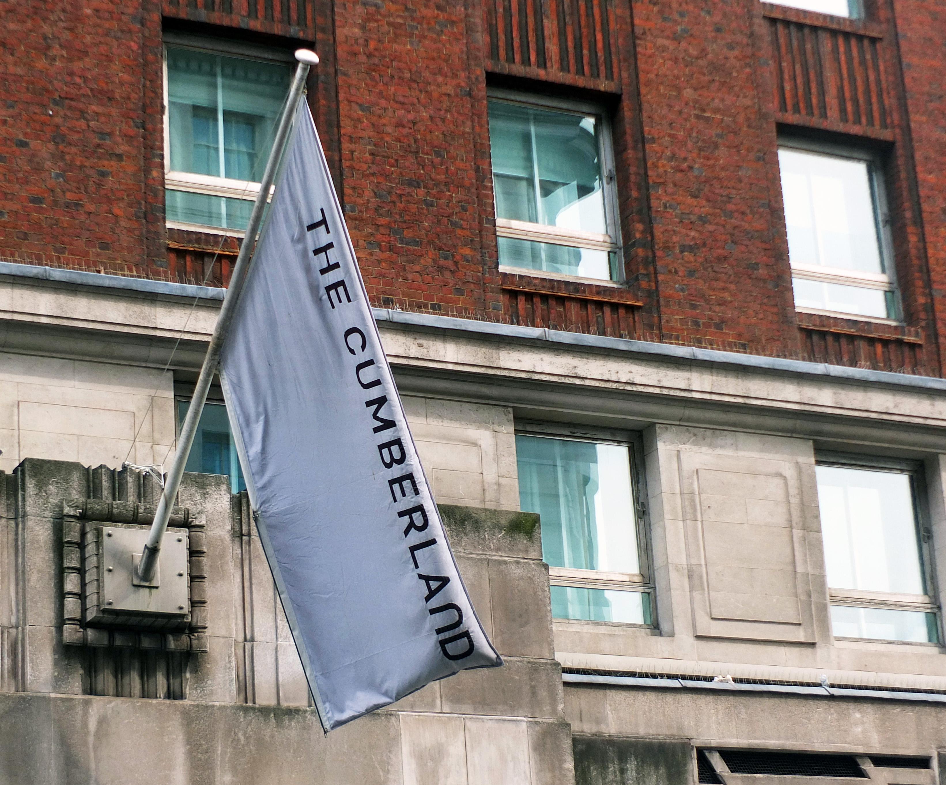 Flag outside the Cumberland Hotel
