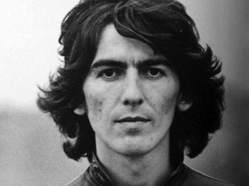 The late, great George Harrison... who once kipped at his friend, Jimi's Brook Steeet flat