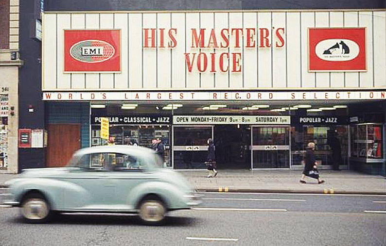 HMV Oxford Street in the 1960s (image: Retail Week)