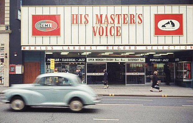 HMV Oxford Street in the 1960s (image: Retail Week)