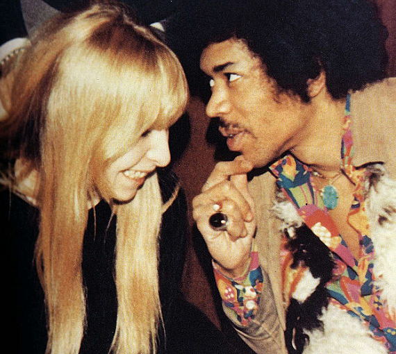 Jimi Hendrix with Monika Dannemann
