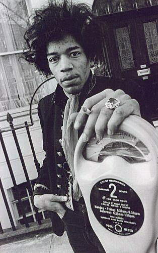 Jimi Hendrix in late 1960s London