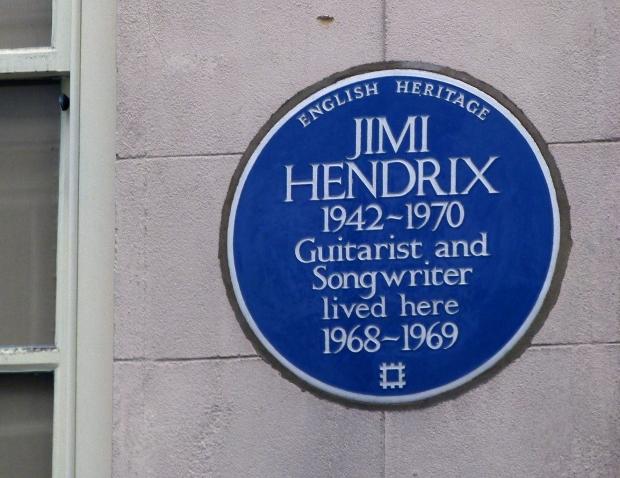 Jimi's blue plaque