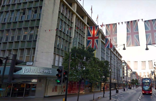 John Lewis, Oxford Street which catered for Jimi Hendrix in 1968