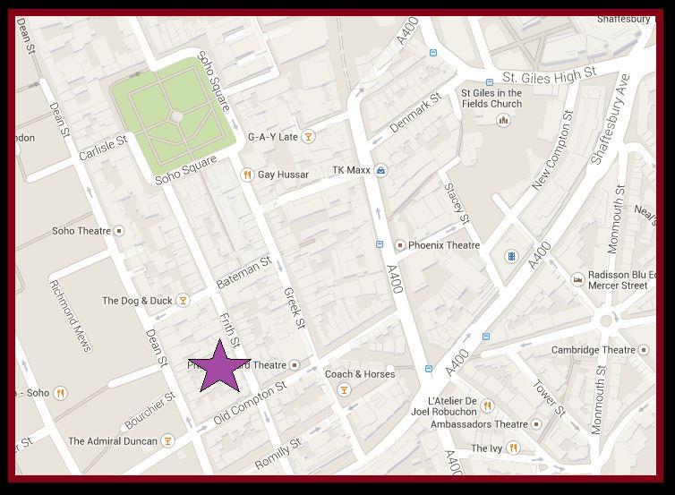 Ronnie Scotts Map