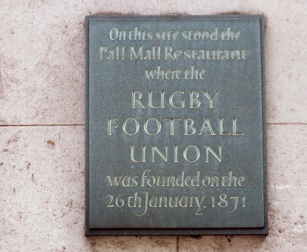 Rugby Union plaque