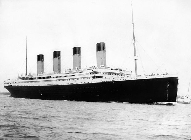 The Titanic departs Southampton, 10th April 1912