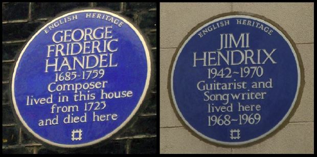 Handel and Hendrix... musical neighbors centuries apart...