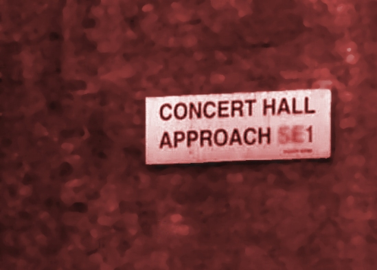 Concert Hall Approach Signage