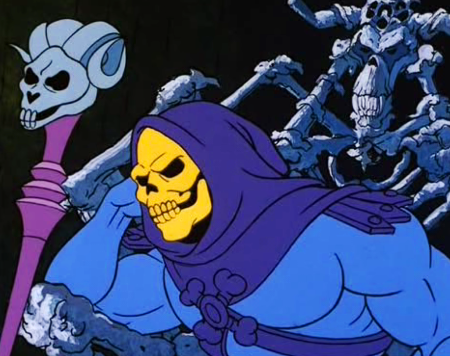 The original 'Skeletor' from the 1980s cartoon, 'He-Man' after whom the Hampton Court ghost was named