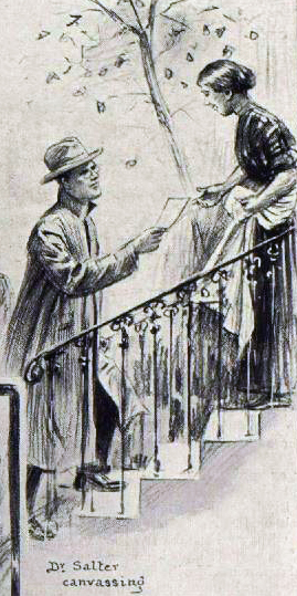 Dr Alfred Salter canvassing in October 1909- as depicted by the 'London Illustrated News'