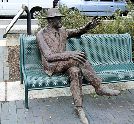The statue of Dr Salter which was stolen in 2011 (photo by jim Linwood)