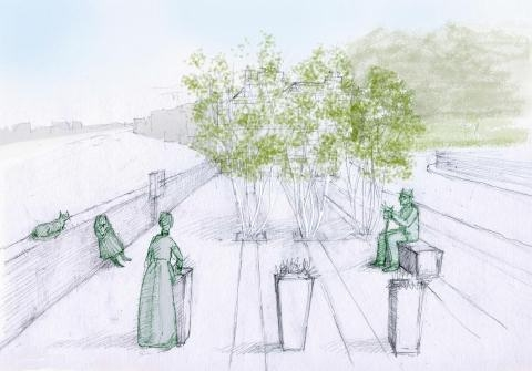 Artist's impression of the new installation (image: Salter Statues Campaign)
