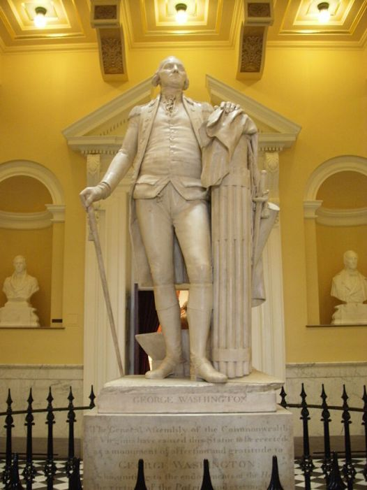 The original Washington Statue, Virginia (image: Wikipedia)