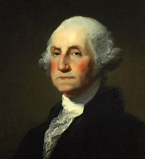 Portrait of Washington by Gilbert Stuart Williamstown, painted shortly before Washington's death