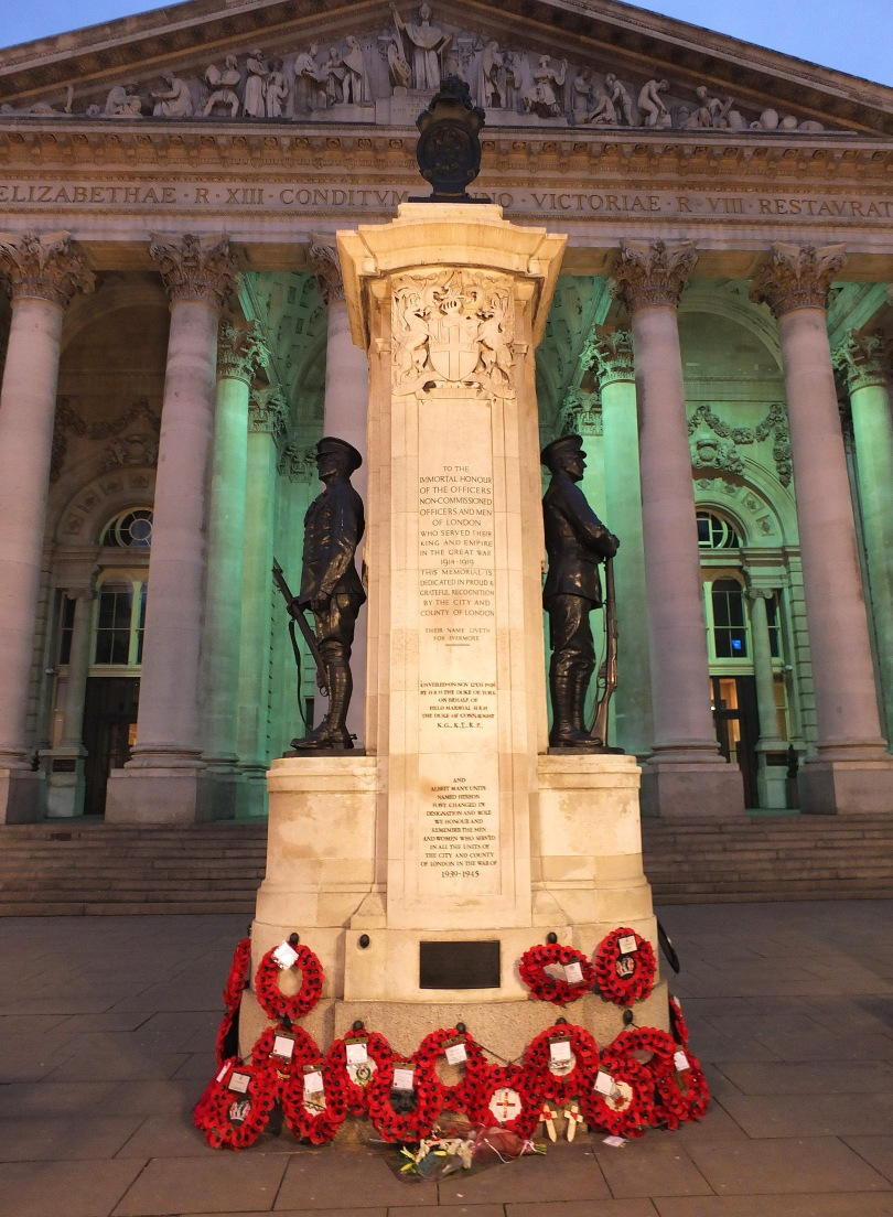 The London Memorial (aka the London Troops Memorial) outside the Royal Exchange