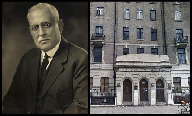 Samuel Insull and the wing hospital wing which he kindly funded