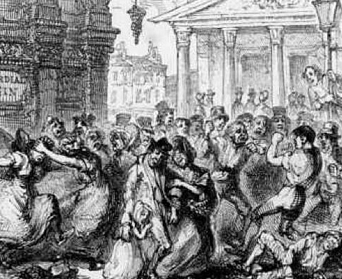 'Sunday in London'... debauched London in 1834 by George Cruickshank