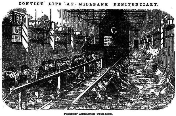 'Convict Life at Millbank Penitentiary' (image: Penny Illustrated News)