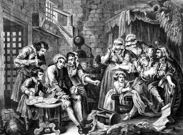 Overcrowding in Newgate Prison, 1735