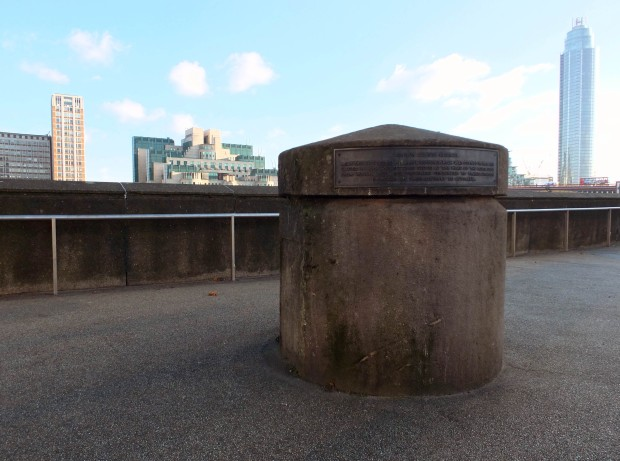 The Millbank bollard, a small reminder of the former prison