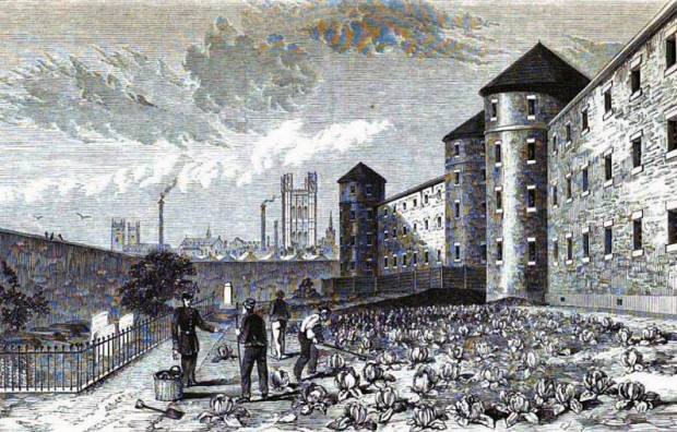 Millbank Penitentiary's burial ground, 1860s