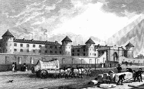 Millbank Penitentiary in the 1820s