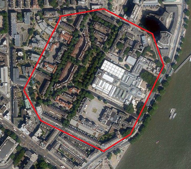 The site of the former prison today (image: Google)