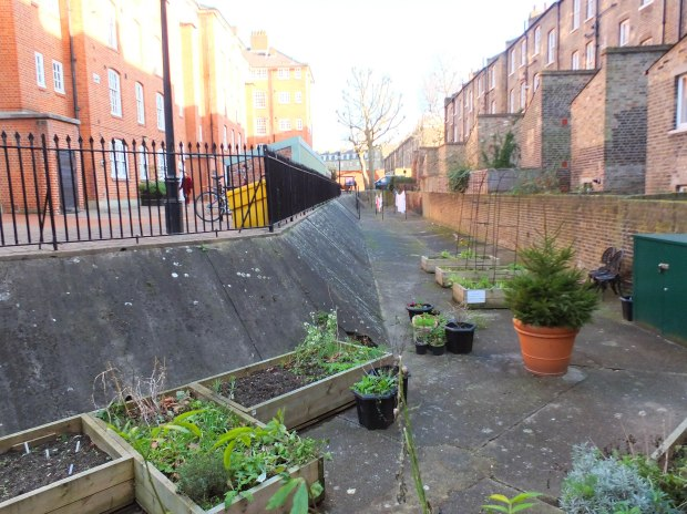The Cureton Street trench, leftover from the prison